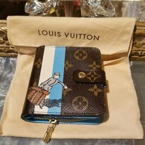 Authentic Louis Vuitton Groom Compact Wallet